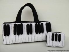 Crochet Pattern - PIANO KEY tote bag and purse- PDF. $5.99, via Etsy.