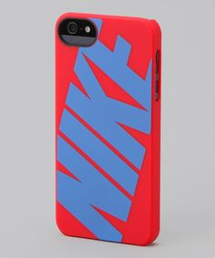 Take a look at this Hyper Red & Signal Blue 'Nike' Classic iPhone 5 Hard Case by Nike on #zulily today!