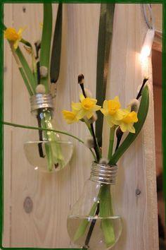 Kreative einzigeartige Glühbirnenvasen im Frühlngsdesing, ein absoluter Hingucker, in deinen 4 Wänden.