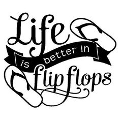Life is better in Flip Flops x Wall Decal Sticker- Home Decor- Room Wall Decal Sticker-Summertime Lake River Decor by VinylDesignCreations on Etsy Beach Wall Decals, Wall Decal Sticker, Wall Stickers, Vinyl Decals, Sticker Ideas, Silhouette Cameo Projects, Silhouette Design, Candy Signs, Cricut Vinyl