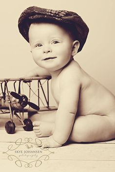 Baby/Airplane Photo Vintage-esq