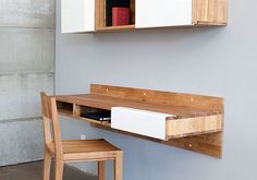Space Saver: 15 Wall-Mounted Desks to Buy or DIY via Brit + Co