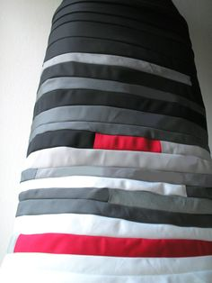 The black-gray-red cotton  skirt by STEFANEC on Etsy