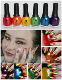 Ombre Rainbow Nail Art for St. Patrick's Day from All Things Beautiful XO