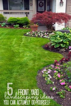 Increase your curb appeal with these landscaping DIY projects! These 5 front yard landscaping ideas are perfect for beginners and can be done in a weekend. tipsaholic.com