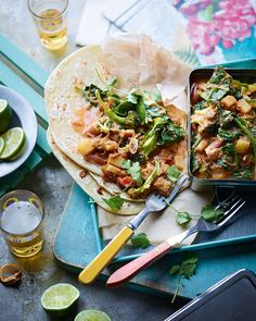 An Indian curry full of veggies and spices, served with warm chapatis and some fresh coriander, is always a good option for vegetarian dinner guests.