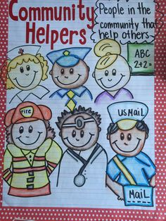 My community helpers anchor chart