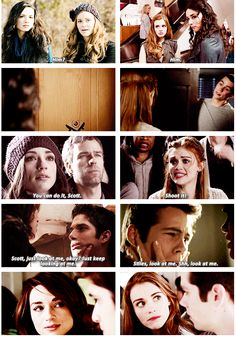 Scott and Allison, Lydia and Stiles GIFset