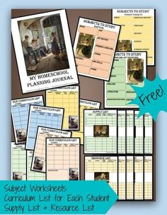 Planning Homeschool Curriculum & Resources ~ with a free 22-page planning journal!