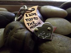 Love to the moon keychain by patsdesign on Etsy, $20.00