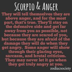 Scorpio & Anger: Fortified and Vicious