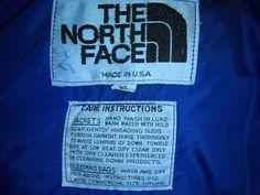 70's THE NORTH FACE down jacket brown label puffy by vintagezion