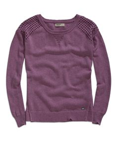 Light Violet Melange Crewneck Sweater