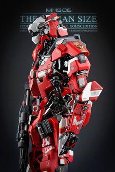 "GUNDAM GUY: 1/6 Scale MSH 06 ""The Humansize"" - Custom Build - dat detail"