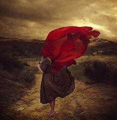 Whimsical Windswept Photography - Brooke Shaden Captures Sepia Windstorm Wonders (GALLERY)