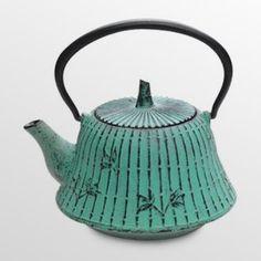 Teal Cast Iron Clarity Teapot - 32 oz.
