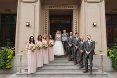 Grey suits for the groom and groomsman ?
