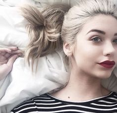 Amanda Steele. She is youtuber, go and watch some of her videos if your interested in hair and makeup.....! :-)