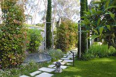Mixing textures and shades of green. By Stefana Savin - Garden Designer on the French Riviera - Monaco - Saint Jean Cap Ferrat. www.riviera-gardens.com