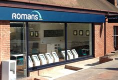 Romans Estate Agents have 19 offices covering Surrey, Berkshire & Hampshire, invited Kremer Signs to tender for the business of the office fascia signage. Glad to say, we won and have recently installed a LED flex face sign in this Lower Early office.