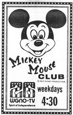 WGNO-TV Mickey Mouse Club 11-19750001 Minnie Mouse, Mickey Mouse Club, Vintage Mickey Mouse, Mickey Mouse And Friends, Disney Nerd, Disney Fan Art, Disney Mickey, Disney Movies, Disney Characters