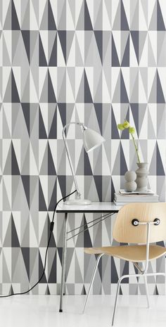 Spear grey wallpaper from Ferm Living