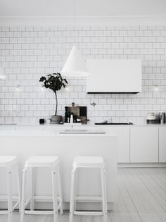 modern kitchen design, interior design kitchen, swedish interiors, kitchen interior, home kitchens, subway tiles, modern kitchens, kitchen designs, white kitchens