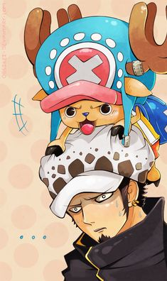 "Once Piece - Trafalgar Law & Chopper; ""Make an alliance, they said.  It will be fun, they said."""
