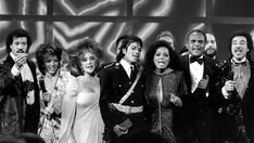 Diana Ross, Michael Jackson, Elizabeth Taylor and Lionel Richie