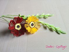 Poppies - by: Sandhu's Quilling