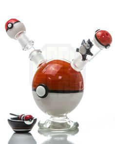 Empire Glassworks - Pokemon Themed Dab Rig - DankStop My boy has this rig Glass Pipes And Bongs, Glass Bongs, Cool Pipes, Dab Rig, Smoking Accessories, Smoking Weed, Water Pipes, Bud Vases, Rigs