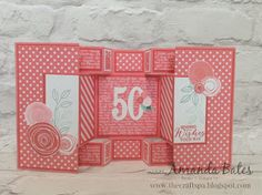 The Craft Spa - Stampin' Up! UK independent demonstrator : New 2016-18 In Color FLIRTY FLAMINGO Double Display Card