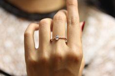 Ovaler Diamant Verlobungsring ovale von KHIMJEWELRY auf Etsy