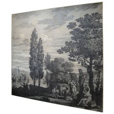 Shop wallpaper and other wall décor and wall art from the world's best furniture dealers. Scenic Wallpaper, Antique Wallpaper, Framed Wallpaper, Grisaille, Cool Furniture, 19th Century, Tapestry, Hand Painted, Wall Decorations