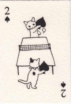 * Two of Spades from Pottering Cat