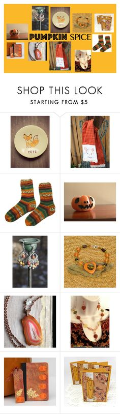 """""""Etsy Finds in Pumpkin Spice"""" by joliefemmefashions ❤ liked on Polyvore featuring Anello"""