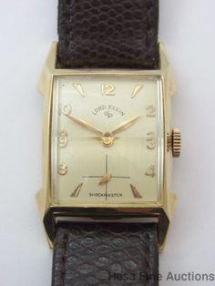 Beautiful Vintage Art Deco Lord Elgin 21J 713 Mens Running Wrist Watch #Elgin