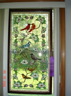Items similar to Stained glass,Birds of America on Etsy Stained Glass Door, Stained Glass Flowers, Stained Glass Panels, Stained Glass Projects, Stained Glass Patterns, Leaded Glass, Mosaic Art, Mosaic Glass, Tiffany Glass