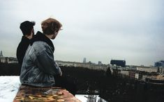 """""""on a freezing cold day, me and my friend climbed on the top of an abandoned factory and saw Berlin smiling in front of us"""" 