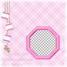 "Layout QP 10E-4 Pink.....Quick Page, Digital Scrapbooking, Christmas Time Collection, 12"" x 12"", 300 dpi, PNG File Format"