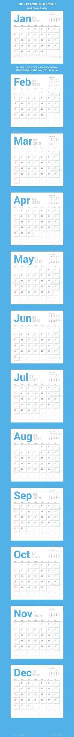 by ctrlaplus on GraphicRiver. Calendar 2019 Planner, Office Calendar, Desk Calendars, Stationery Templates, Stationery Design, Print Templates, Calendar Templates, Print Design, Graphic Design