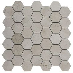 Splashback Tile Crema Marfil Hexagon 12 in. x 12 in. x 8 mm Polished Marble Floor and Wall Tile