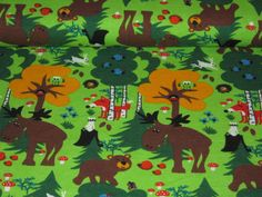New jersey by Sweden Design   with deers, bears, foxes in forest