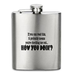 Cooby Roman How You Doin Funny Logo Stainless Steel Pocket Flagon Shot Flask Hip Flask Wine Pot -- See this great product. (This is an affiliate link) #LiquorWineFlasks