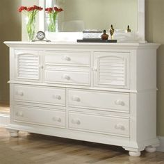 American Woodcrafters 6500-262 Cottage Traditions High Dresser