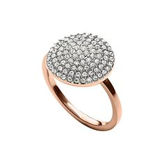 5845f8d0dc66 MKJ4104 Michael Kors Women Ring Rose Gold Tone Crystal Pave Disc Size 6   michaelkors