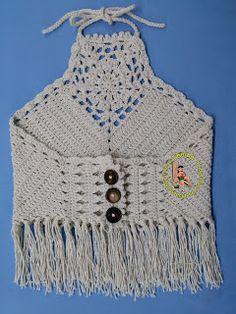 Thainá Agulha de Crochê: Cropped em crochê e diversos
