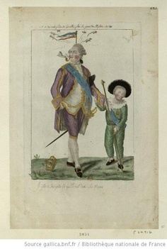 A caricature of Louis XVI and his son Louis Charles. 1791.