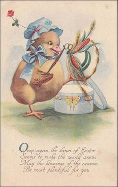 Vintage Easter  Postcard  Bonnet wearing by sharonfostervintage, $5.00