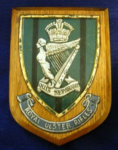 Vintage Military Regimental Plaque of the Royal Ulster Rifles